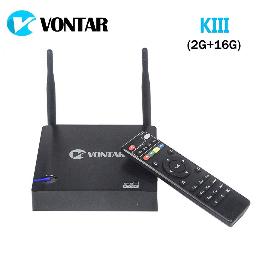 [Genuine] VONTAR KIII Android 5.1.1 TV Box 2GB/16GB K3 Amlogic S905 2.4/5G Dual Wifi 1000M Gigabit LAN BT4.0 UHD 4K 3D