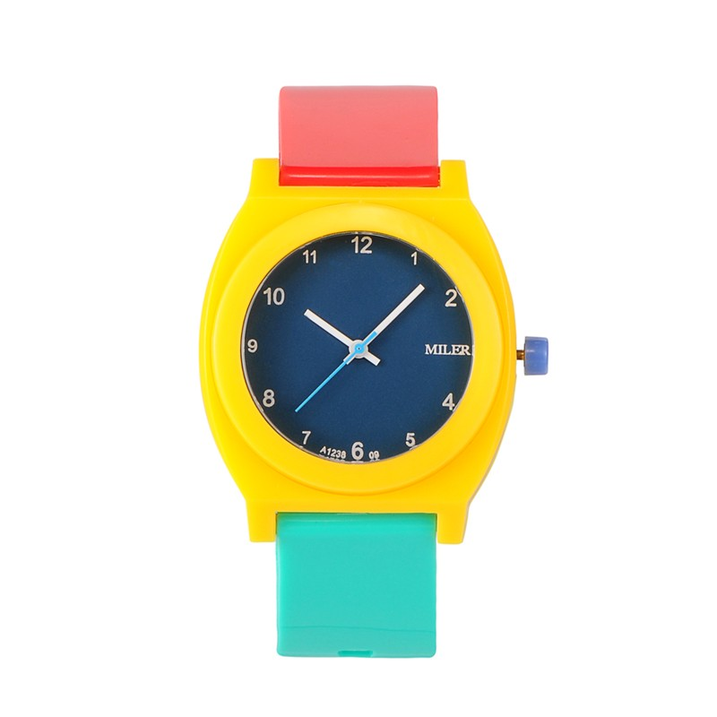 10pcs Colourful Children Watches for Boys Girls Plastic Wrist Watches Kids Birthday Gift Fashion Quartz Students Watch Clock