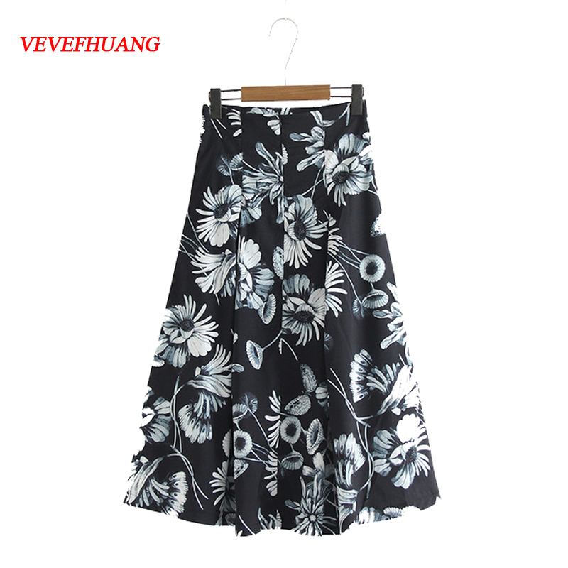 Fashion Hot Skirts Tropical Floral Print High Waist Fluffy Pleated Flare Casual Satin Elegant Party Wear Bodycon Ladies Vestidos