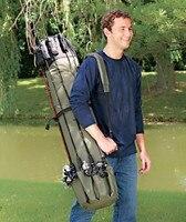Multi Function Folding Portable Fishing Rod Carrier Fishing Pole Tools Storage Bag Case Fishing Gear Organizer