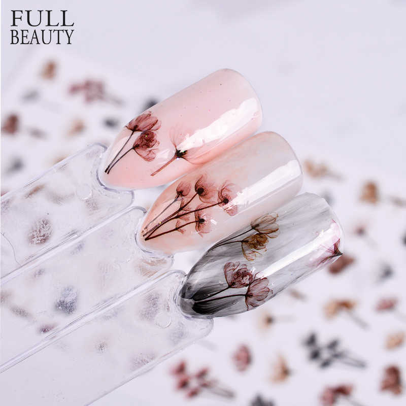 Full Beauty 1pcs 3D Embossed Nail Sticker Flower Adhesive DIY Manicure Slider Nail Art Tips Decorations Decals CHF
