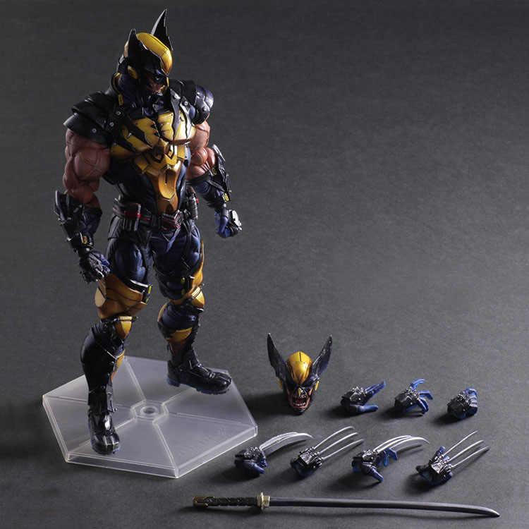 Movie game anime Playarts Kai X-MEN LOGAN Wolverine Action Figure PVC Modelo de Brinquedo Anime Movie Play Arts Kai Figura Wolverine