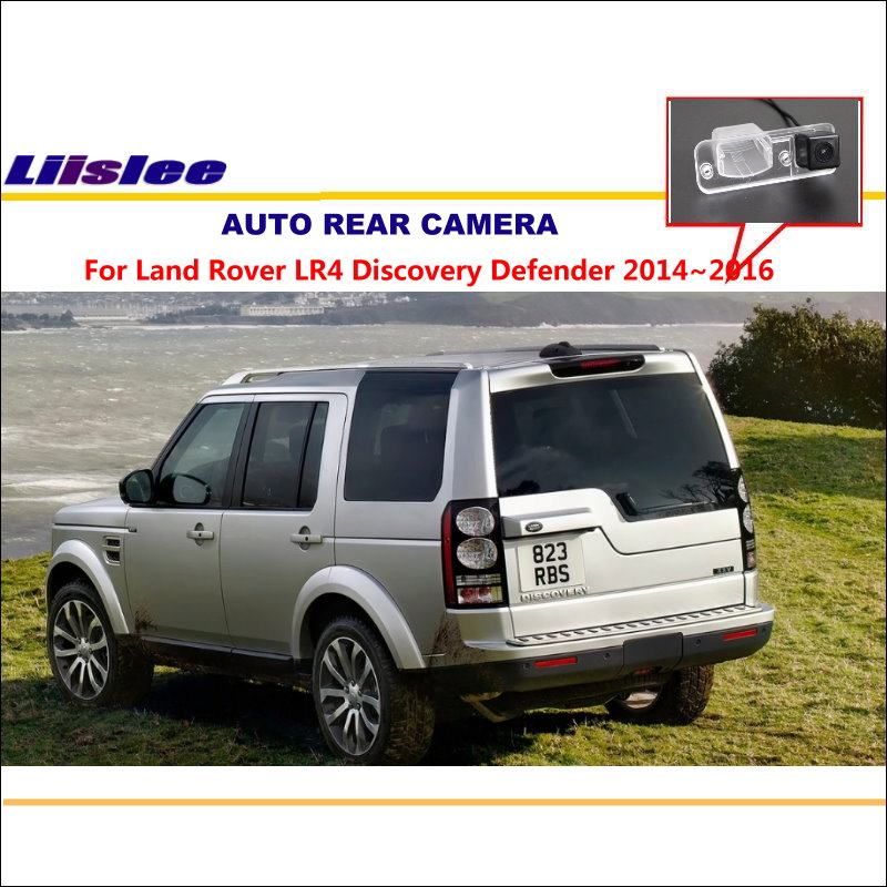 Liislee Reverse Camera For Land Rover LR4 Discovery Defender 2014~2016 License Plate Light CAM / Night Vision / Car Rear Camera