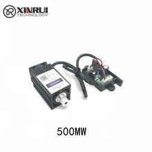 12V 500 Mw 405NM Blauw Paars Laser Module Graveren, met Ttl Controle Laser Buis Diode Focus Verstelbare + Bril