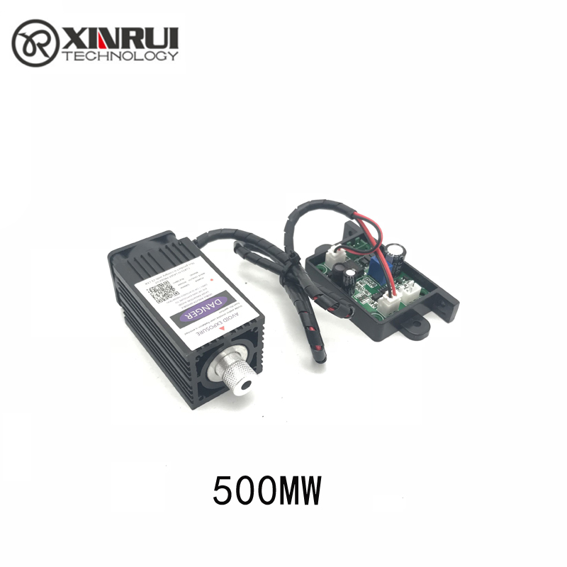 12V 500mw 405NM  Blue Purple Laser Module Engraving,with TTL Control Laser Tube Diode Focus Adjustable+ Goggles