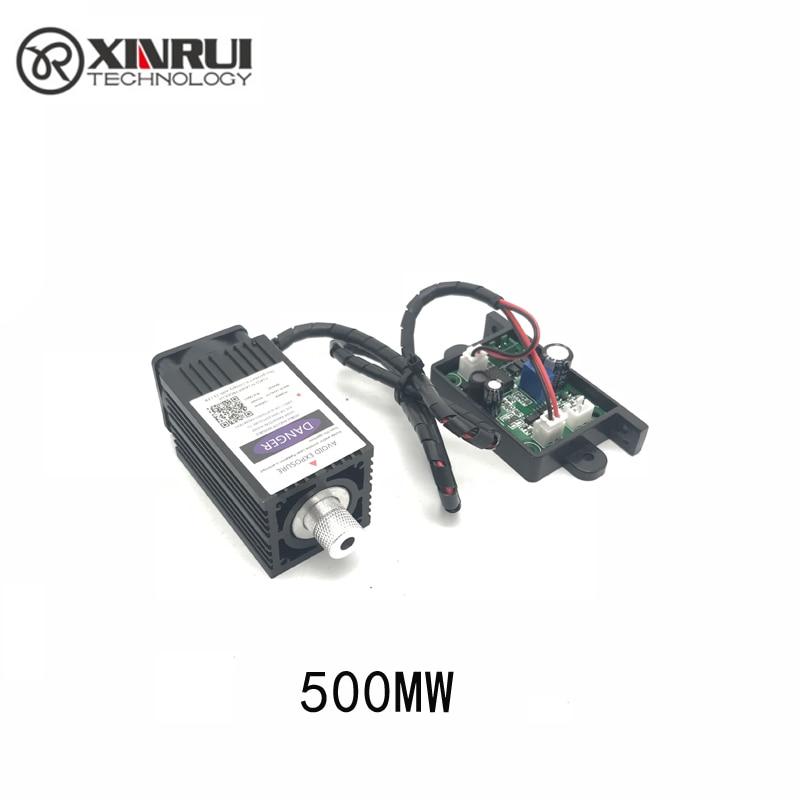 12V 500mw 405NM  Blue Purple Laser Module Engraving,with TTL Control Laser Tube Diode Focus Adjustable+ Goggles