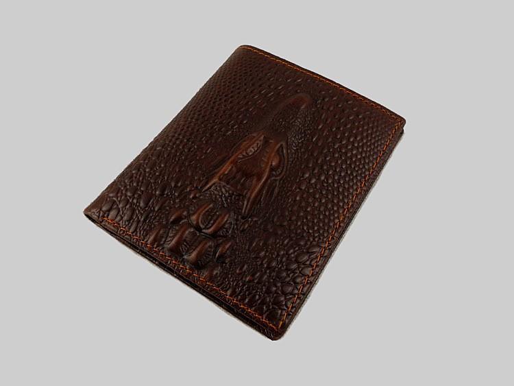 подлинный кожаный бумажник коровьей кожи кожа бумажник скота кожи крокодила картина нет молнии денежные мешки