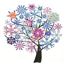 Snowflake Tree 5D Special Shaped Diamond Painting Embroidery Needlework Rhinestone Crystal Cross Craft Stitch Kit DIY