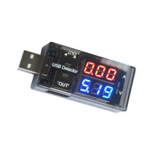 Detector de corriente USB y voltaje, medidor USB, medidor de voltaje, kit diy electrónico de mesa doble