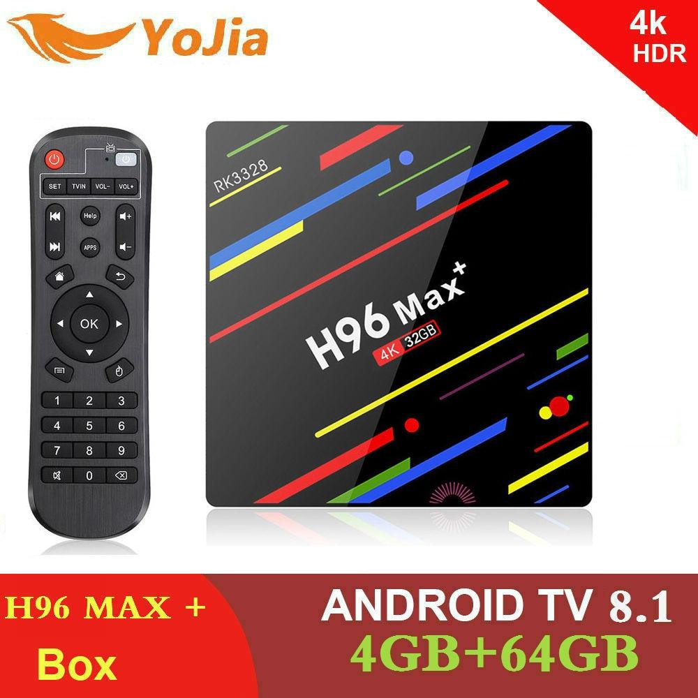 H96 MAX Plus RK3328 Android 8.1 TV Box 4 GB di Ram 64 GB ROM Smart set top box 4 K 2.4G/5G WIFI H96Max + BT Media player PK T9 TVBOX