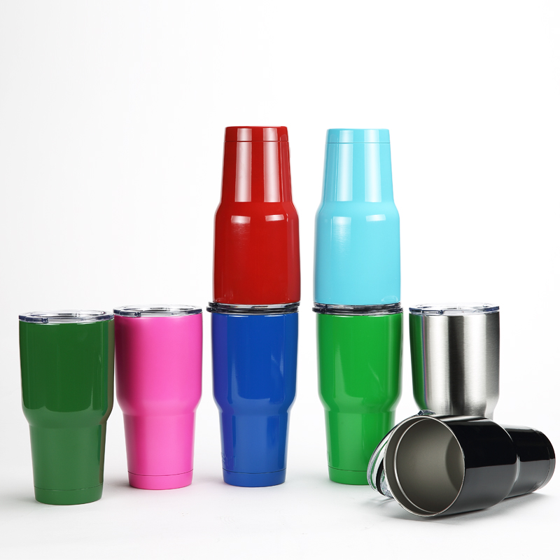 2016 New Hot 30 OZ Double Stainless Steel Tumbler Travel Mug Water Bottle Rambler Cups