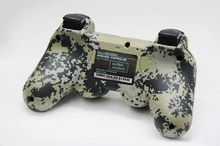 Matte Unique Camouflage Dual Vibration Shock 6 Axis Bluetooth Wireless Controller for SONY PS3 controllers Gamepads