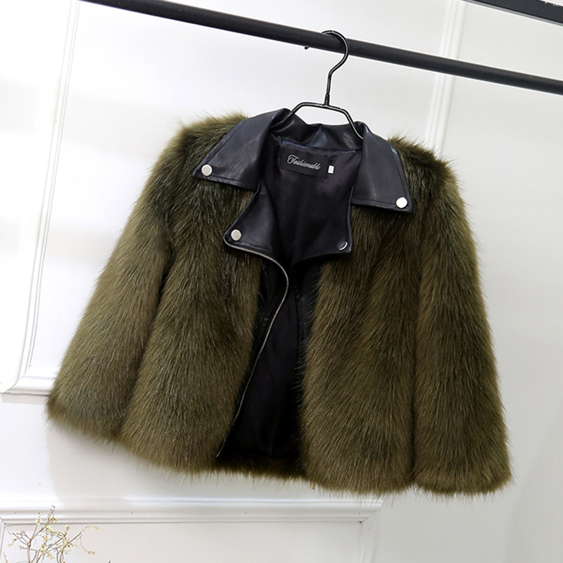Fur Coat for Girls Stylish Jackets Baby Girl Coats Winter Plush +Leater Children Clothes Warm Fur Outerwear Cute Kids Clothing korean baby girls parkas 2017 winter children clothing thick outerwear casual coats kids clothes thicken cotton padded warm coat