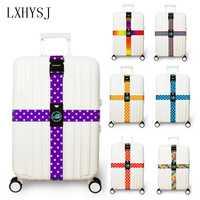 LXHYSJ Luggage Strap Cross Belt Packing Adjustable Travel Suitcaseband Nylon Suitcase With Travel Accessorie