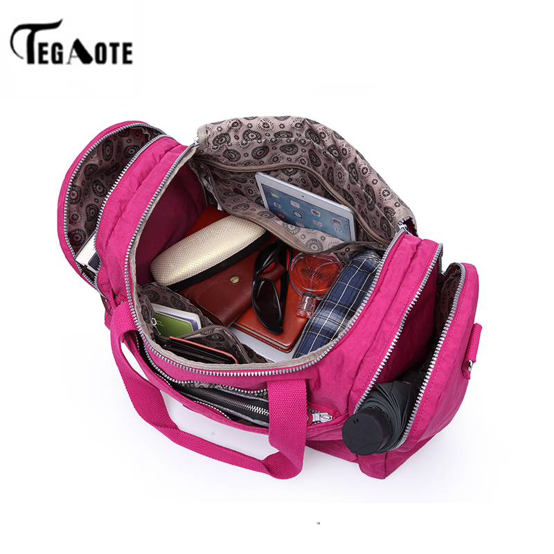 TEGAOTE Fashion Travel Bag Large Ladies Tote Bags For Women 2019 Luggage Duffle Bag Big Weekend Trip Tourist Casual Kipled Nylon