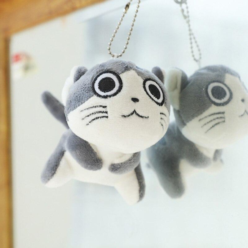 9 см мультфильм кошка плюшевые игрушки мягкие животные куклы игрушки брелок цепь Lote Peluches Para Bebe плюшевые кошки мягкие игрушки Juguetes - Цвет: 2