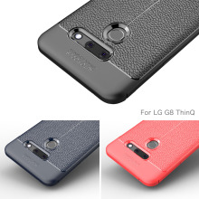 Luxury Silicone Case For LG G8 ThinQ Cover Carbon Fiber Soft Back Phone G 8 Shockproof funda Coque Etui
