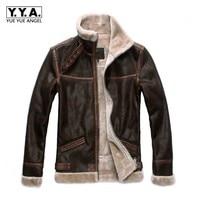 Cosplay Men Faux Leather Jacket Stand Collar Winter Fleece Lining Biker Coat Short Pu Leather Male Windproof Coats Plus Size 6XL