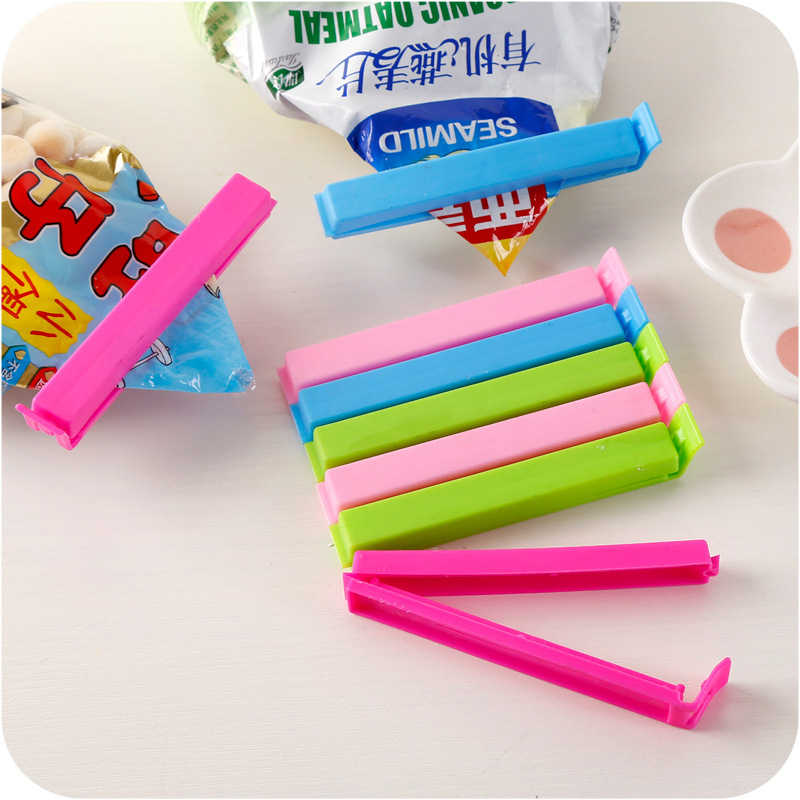 Portable Kitchen Storage Food Snack Seal Sealing Bag Clips Sealer Clamp Plastic Tool Random Colors