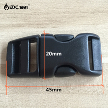 10Pcs Colored Curved Side Release Plastic Buckles For Umbrella Paracord Bracelet EDC TOOL