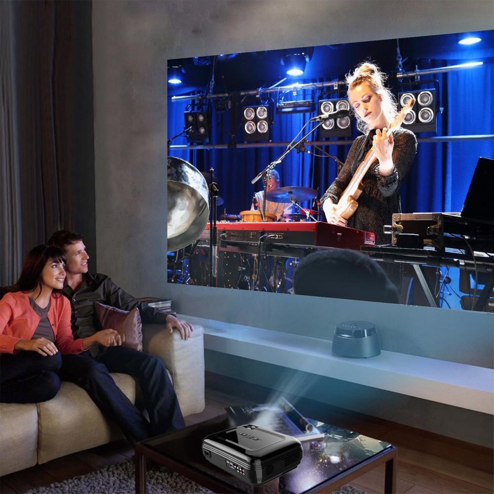 LESHP 720P LCD projecteur haute résolution 3200 LM Home Cinema pour ordinateur portable TV