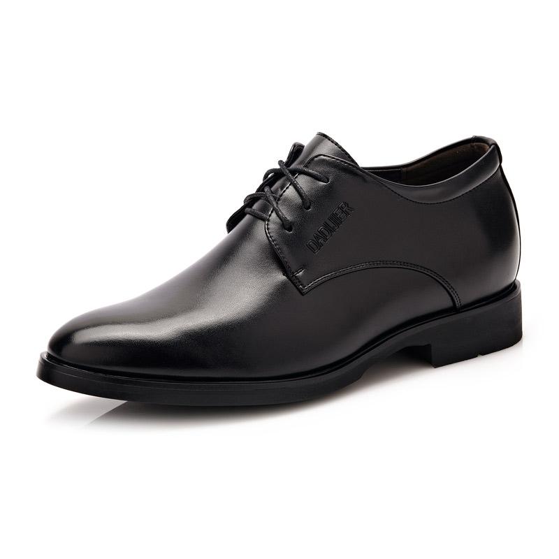 Men's fashion dress wedding patent leather shoes 2017 men height Increasing business oxfords lace up party shoes size 37-42