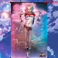 Wall Scroll Poster HARLEY QUINN SUICIDE SQUAD MOVIE Home Decoration