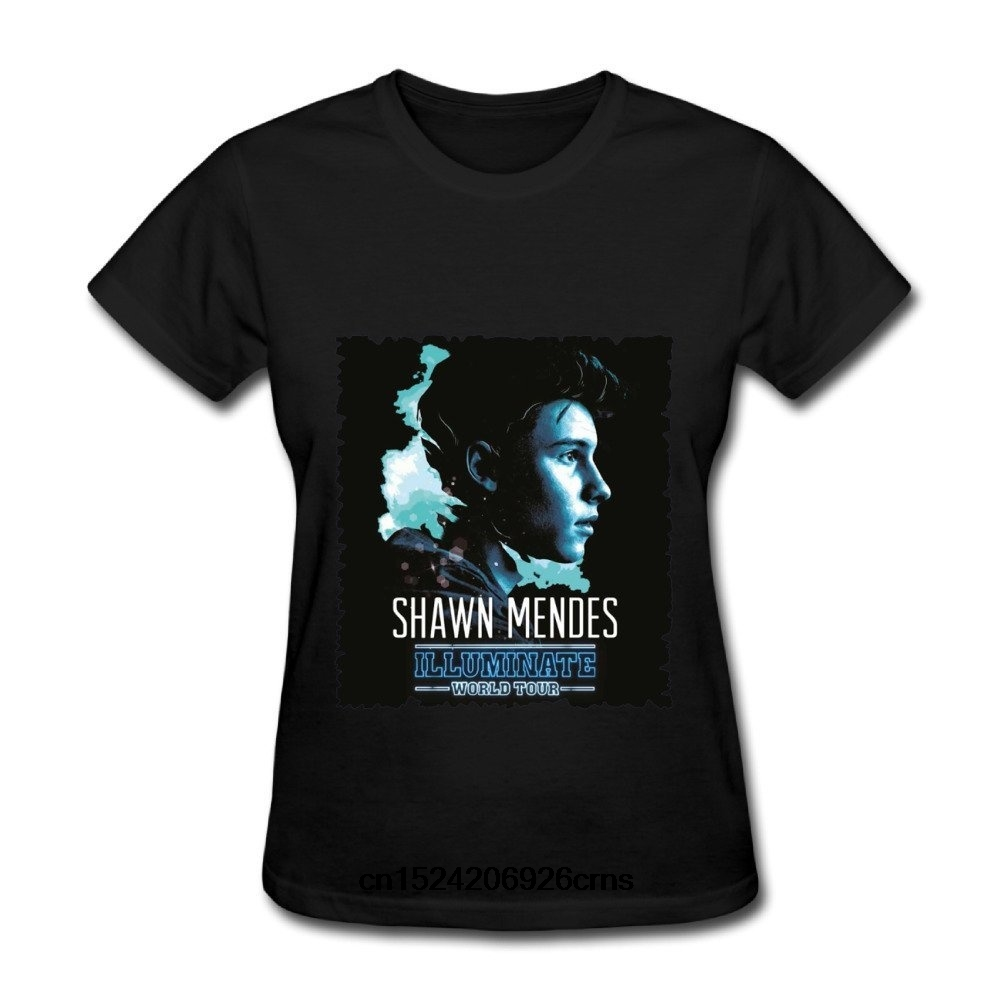 ac7ef50b Funny Men t shirt white t shirt tshirts Black tee Shawn Mendes Illuminate  World Tour Poster T Shirt For Women-in T-Shirts from Men's Clothing on ...