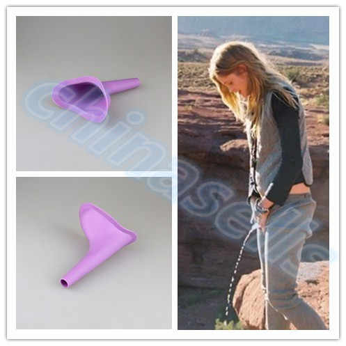 100pcs Women Urinal Travel kit Outdoor Camping Soft Silicone Urination Device Stand Up & Pee Female Urinal Toilet