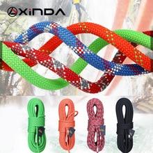 Xindaキャンプロッククライミングロープ 9 ミリメートルスタティックロープ 21kN高強度高さで作業の安全ロープクライミング機器