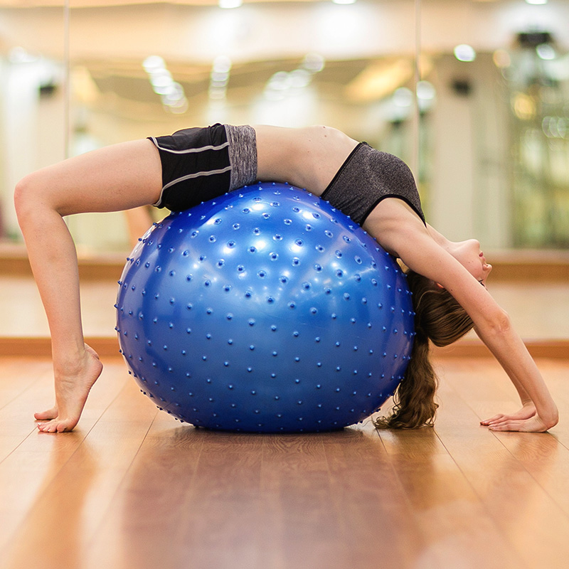 Massage Yoga Ball 65cm particles slimming explosion-proof gym exercise fitness training lose weight body shape shaping