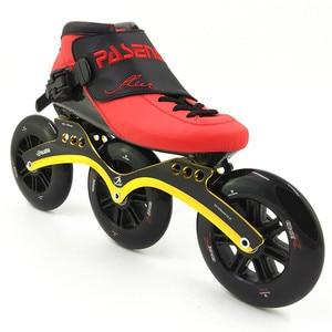 Image 5 - Thermoplastic carbon racing skate  3 wheel 125mm Heat moldable roller inline skates speed man women professional rolki skate