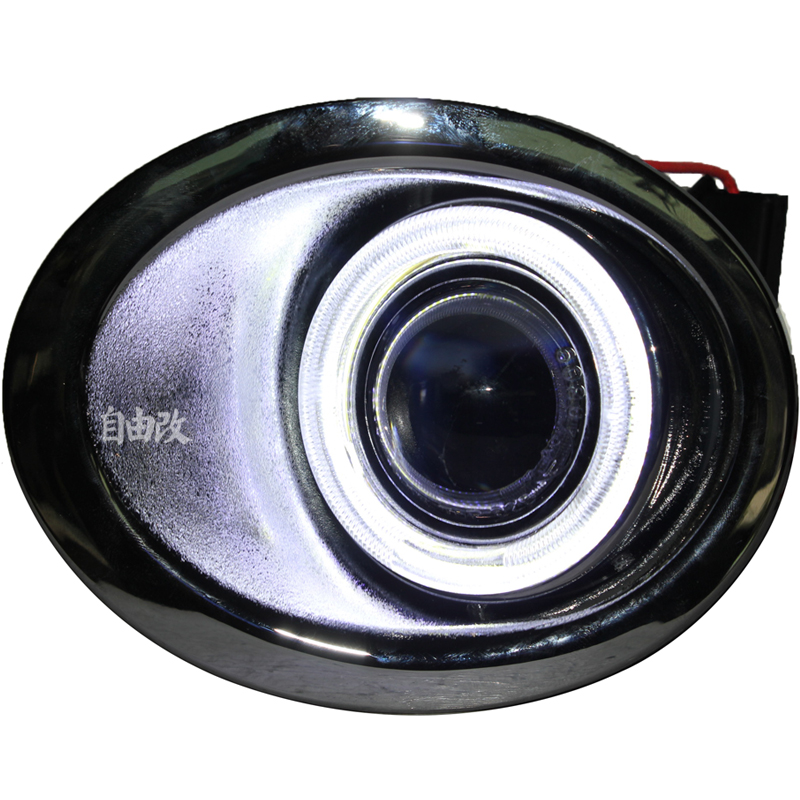 цена на eOsuns Innovative COB angel eye led daytime running light DRL + halo Fog Light + Projector Lens for Nissan Qashqai