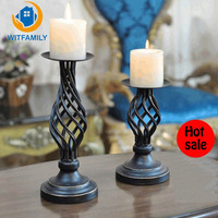 Retro Candlestick Decoration European Style American Cafe Candle Holder Wedding Candlelight Dinner Props Table Decorations