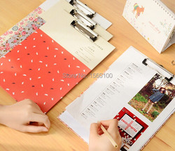 Free shipping 4pcs lot new fashion a4 paper clipboard cute flower file clipboard with hook portable.jpg 250x250