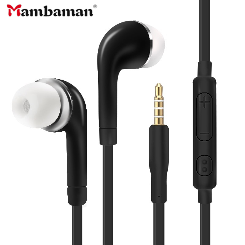 S4 In Ear Wired Earphone Heavy Bass Sound Stereo Music j5 earphones Sport Headset fone de ouvido With mic For Samsung S6 Xiaomi-in Earphones & Headphones from Consumer Electronics