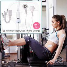 Мини Меридиан портативный мышечный Стимулятор Массажер для тела управление телефоном терапия спины электродный патч для релаксации здоро...