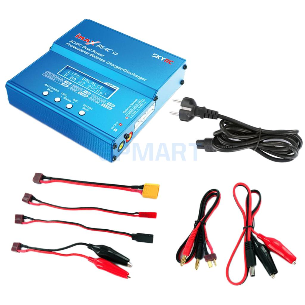 iMAX B6 LCD Screen Digital RC Lipo NiMh Battery Balance Charger + AC Adapter imax b6 ac b6ac lipo nimh 3s rc battery balance charger