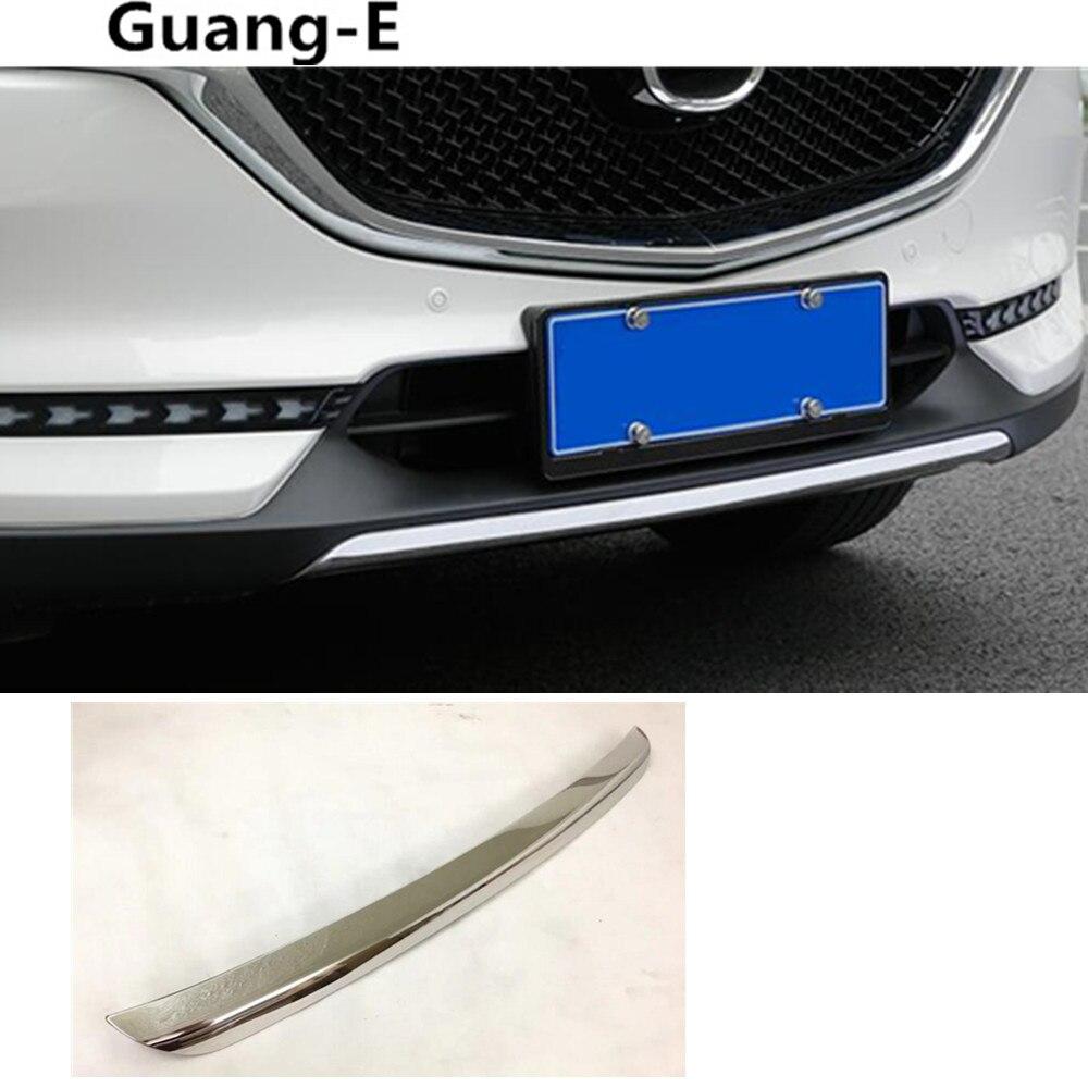 Автомобильный чехол для защиты бампера из нержавеющей стали облицовка двигателя передняя нижняя решетка Гриль решетка вытяжки краю 1шт на Mazda СХ-5 2017 2018