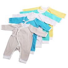 2017 Newborn Infant Baby Romper Clothes Boy Girl Rompers 100% PIMA Cotton Long Sleeve Romper Jumpsuits Clothing Solid