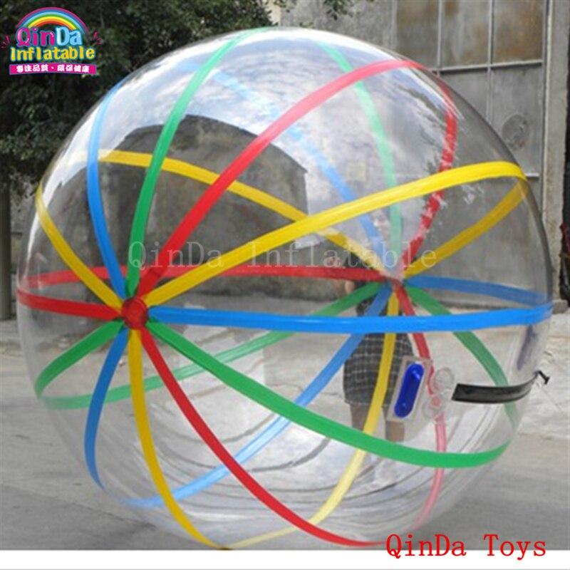 Бесплатная воздушный насос коммерческих шарик хомяка вы можете пойти внутри, прозрачный надувной воды поплавок с полосками
