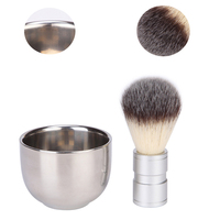 Stainless Steel Mens Shaving Brush Metal Bowl Shaving Bowl Mens Shaving Beard Kit Beard Set Shave Brush