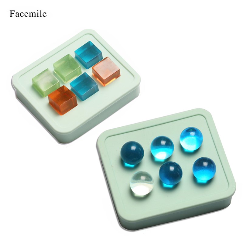 Facemile 16mm Cube Round Ice Silicone Mold Making Jewelry Pendant Resin  Casting Mould for Baking Cake and Freezing