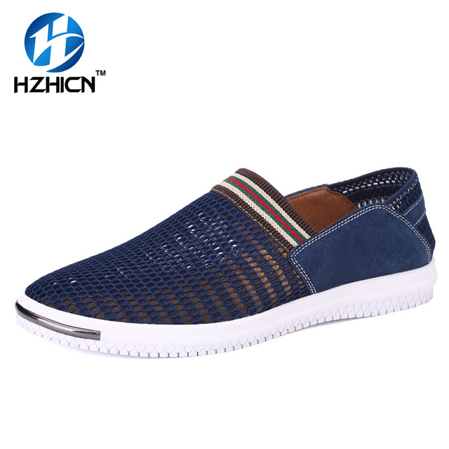HZHICN Summer Mens Breathable Shoes New 2017 Slip On Shoes Men Outdoor Breathable Walking Shoes Fashion Water Shoes zapatillas