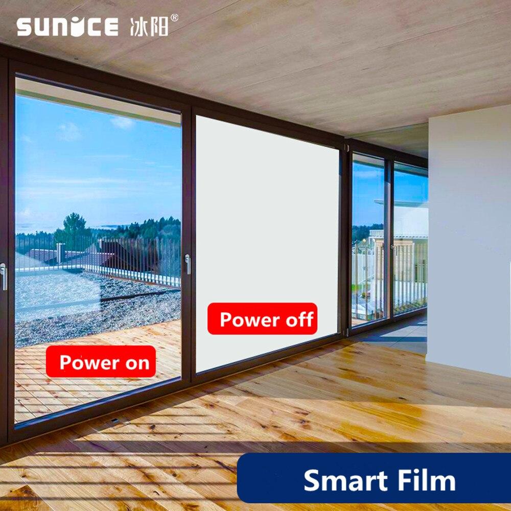 SUNICE Pellicola Intelligente Commutabile Elettrodo di Controllo Protezione della Privacy di Proiezione Riunione A4 Copriletto Pellicola PDLC 29.7cm21cm