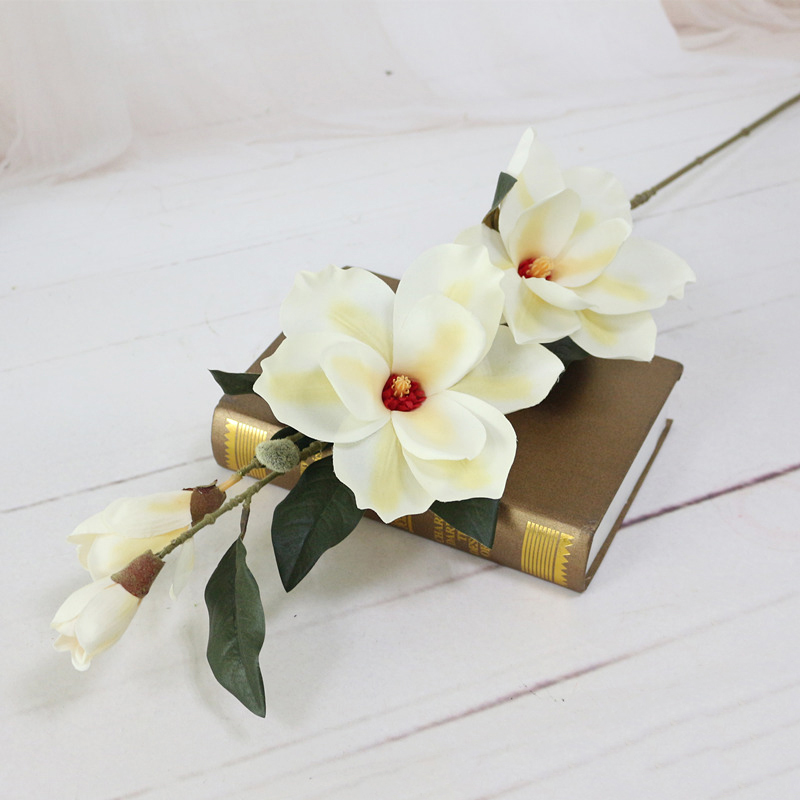 JAROWN Artificial Orchid Flower Simulation Silk Magnolia Flower For Wedding Decoration Home Party Decoration Accessory
