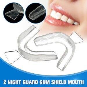 2pcs Transparent Night Guard Gum Shield Mouth Teeth Trays Anti Snoring For Sleep Bruxism Grinding Bleaching Dental Equipment(China)