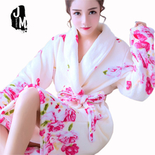Women Robes Winter Warm bathrobe Nightdress Sleepwear Female Pajamas homewear sleepwear kimono hotel