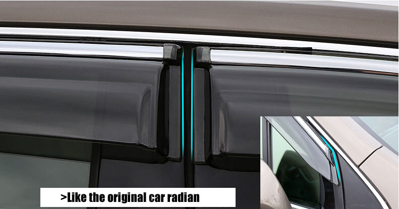 Auto rain shield window visor car window deflector sun visor covers stickers 12