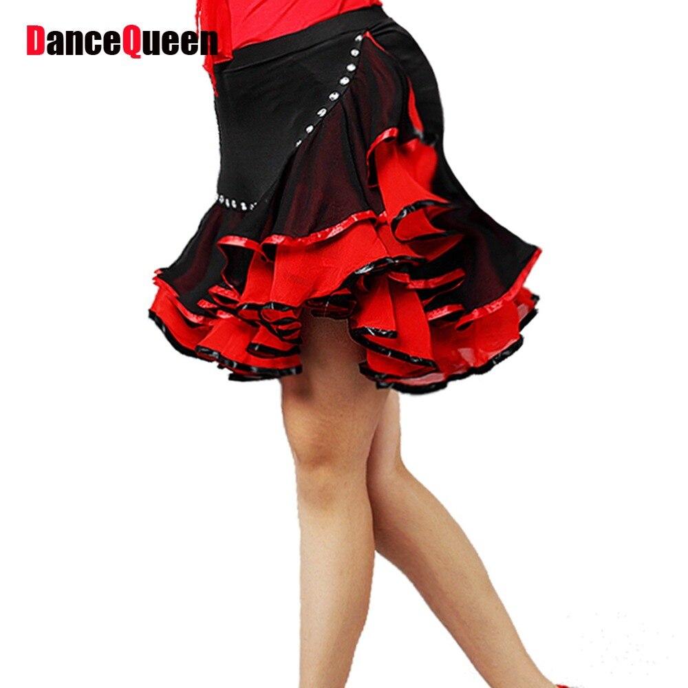 2018 New Women Latin Dance Skirt Green/Blue/Purple/Rose/Red Cha Cha/Rumba/Samba/Tango/Cowboy Skirt Dancewear For Sale DQY10151